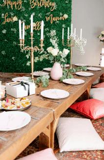 Table décorée pour événements